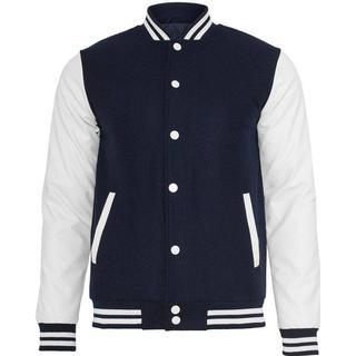 Urban Classics Old school College Jacket - Navy/White