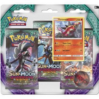 Pokémon Sun & Moon Guardians Rising Boosters 3 Booster Packs with Turtonator Promo Card