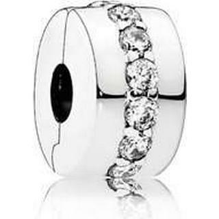 Pandora Shining Path Clip Silver Charm w. Cubic Zirconia (791972CZ)