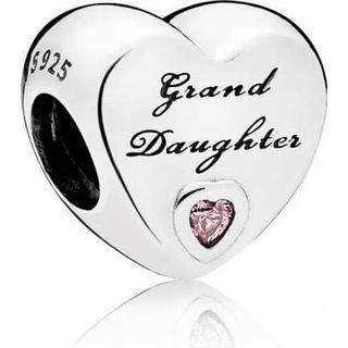 Pandora Granddaughter's Love Silver Charm w. Cubic Zirconia (796261PCZ)
