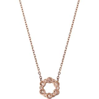 Edblad Norah Stainless Steel Rose Gold Plated Necklace w. Champagne Cubic Zirconia (104133)