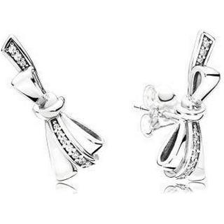 Pandora Brilliant Bows Silver Earrings w. Cubic Zirconia (297234CZ)