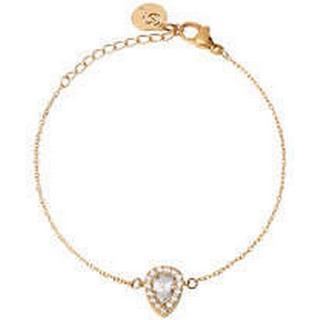 Edblad Kate Stainless Steel Gold Plated Bracelet w. Cubic Zirconia (104122)