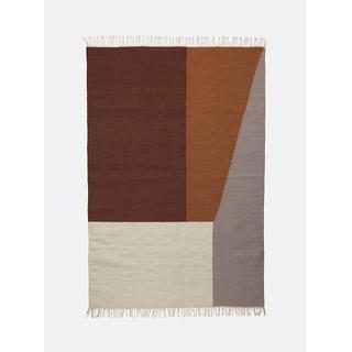 Ferm Living 9289 (160x250cm) Grå, Orange, Röd, Vit, Flerfärgad