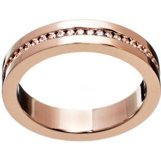 Edblad Josefin Stainless Steel Rose Gold Plated Ring w. Cubic Zirconium (101198)