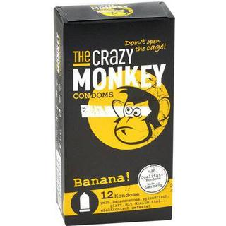 The Crazy Monkey Condoms Banana 12-pack