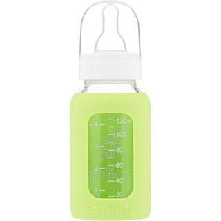 Eco Viking Glass Baby Bottle Standard Neck Spring Green 120ml