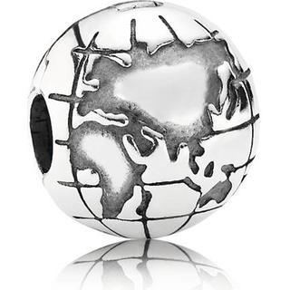 Pandora Globe Clip Silver Charm (791182)