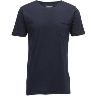 Knowledge Cotton Apparel Alder Basic Chest Pocket T-shirt - Total Eclipse