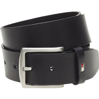 Tommy Hilfiger Denton Flag Logo Leather Belt - Midnight