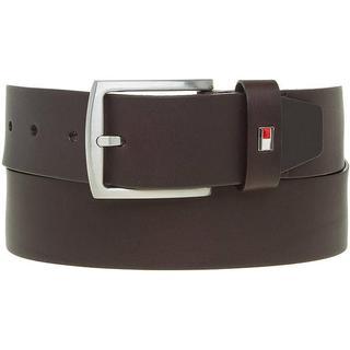 Tommy Hilfiger Denton Flag Logo Leather Belt - Testa Di Moro