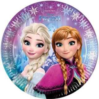 Disney Plates Frost Blue 8-pack