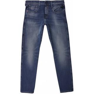 Replay Slim Fit Anbass Hyperflex+Jeans - Medium Blue