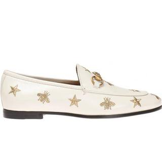 Gucci Jordaan - White Leather/Gold