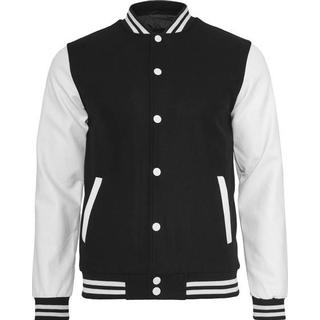 Urban Classics Old School College Jacket - Black/White
