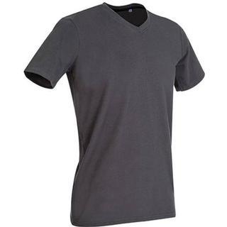 Stedman Clive V Neck T-shirts - Slate Grey