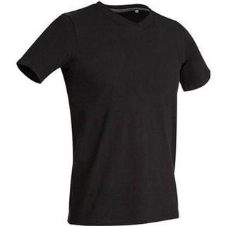 Stedman Clive V Neck T-shirts - Black Opal