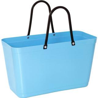 Hinza Shopping Bag Large (Green Plastic) - Light Blue