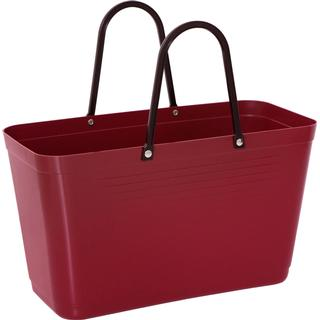 Hinza Shopping Bag Large (Green Plastic) - Maroon