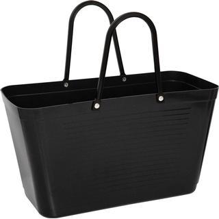 Hinza Shopping Bag Large (Green Plastic) - Black