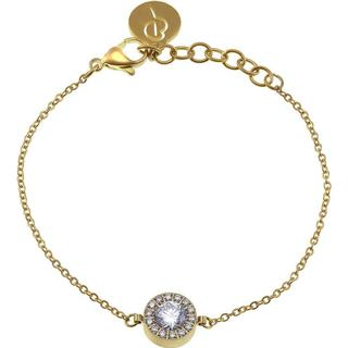 Edblad Thassos Stainless Steel Gold Plated Bracelet w. Cubic Zirconia (11730150)
