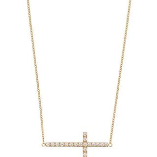 Edblad Glory Stainless Steel Gold Plated Necklace w. Cubic Zirconia (109485)