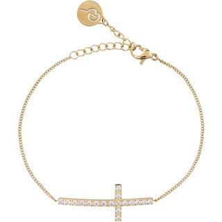 Edblad Glory Stainless Steel Gold Plated Bracelet w. Cubic Zirconia (109487)