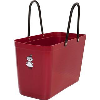 Hinza Shopping Bag Large (Green Plastic) - Burgundy