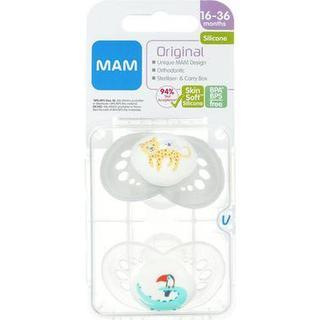 Mam Napp Original Silicone 16-36m 2-pack