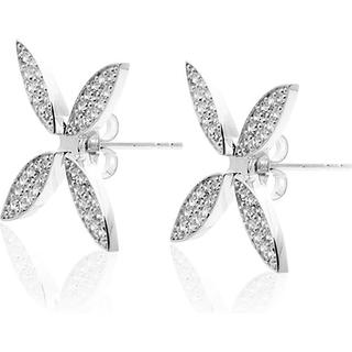 Gynning Jewelry Sparkling Ellipse Earrings - Silver