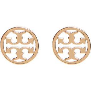 Tory Burch Miller Stud Brass Gold Plated Earrings (11165518)