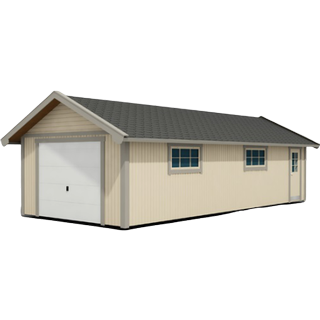 Trähuset Garage 40m² (Byggnadsarea 40 m²), Grundsats