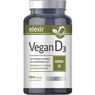 Elexir Pharma Vegan D3 4000IE 100 st