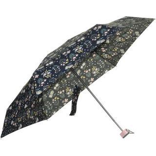 Totes Compact Flat Umbrella Flower Navy Ditsy