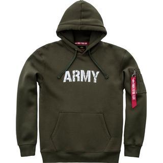 Alpha Industries Army Navy Hoodie - Dark Green