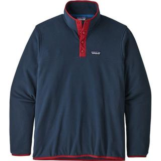 Patagonia Micro D Snap-T Fleece Pullover - New Navy w/Classic Red