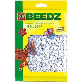 SES Creative Beedz Iron on Beads White 1000pcs 00700
