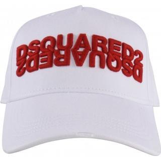 DSquared2 Embroidered Mirrored Logo Cap - White