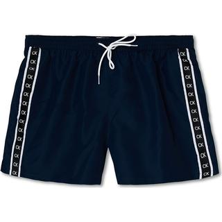 Calvin Klein Core Mono Tape Swim Shorts - Black Iris