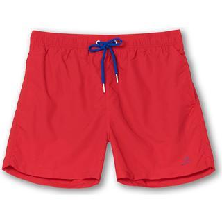 Gant Classic Fit Basic Swim Shorts - Bright Red