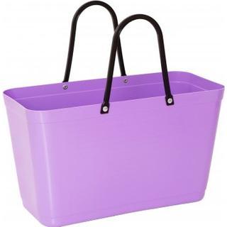 Hinza Shopping Bag Large (Green Plastic) - Purple