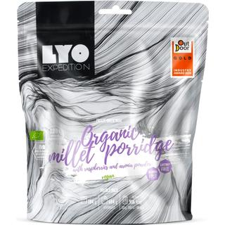 LYO Organic Millet Porridge with Raspberries & Aronia Powder 92g
