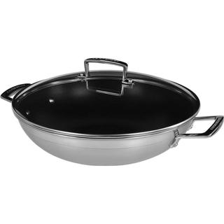 Le Creuset 3 Ply Stainless Steel Non Stick Wokpanna med lock 30 cm