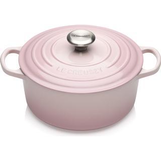 Le Creuset Shell Pink Signature Cast Iron Round Gjutjärnsgryta med lock 2.4 L 20 cm