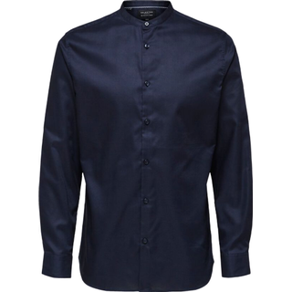 Selected Mandarin Collar Shirt - Blue/Navy Blazer