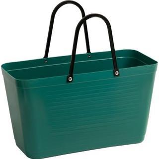 Hinza Shopping Bag Large (Green Plastic) - Dark Green