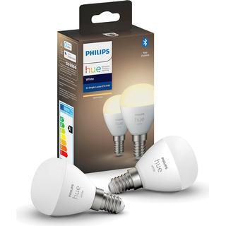 Philips Hue White LED Lamp 5.7W E14 2-pack