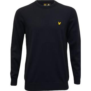 Lyle & Scott Crew Neck Cotton Merino Jumper - Dark Navy