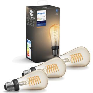 Philips Hue White Filament 13.5cm LED Lamp 7W E27 3-pack
