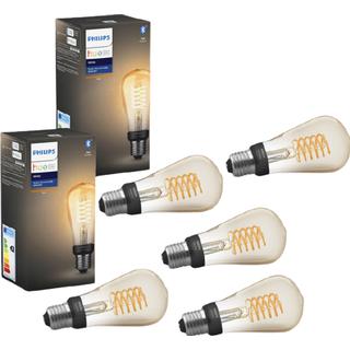 Philips Hue White Filament 13.5cm LED Lamp 7W E27 5-pack